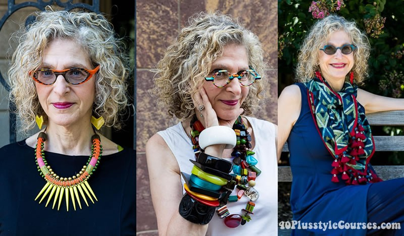 Dayle wearing glasses | 40plusstyle.com