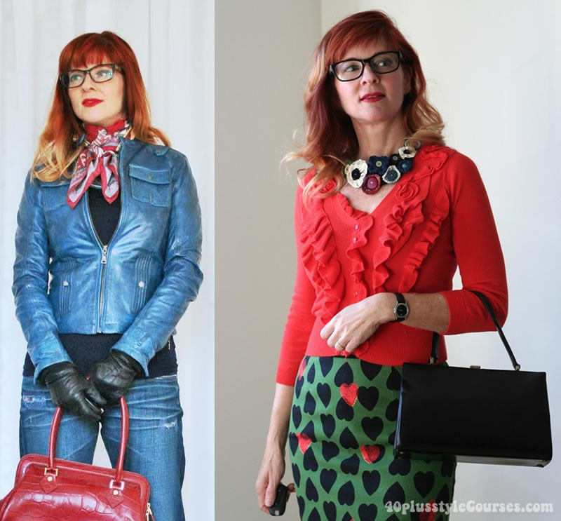 Suzanne wearing glasses | 40plusstyle.com
