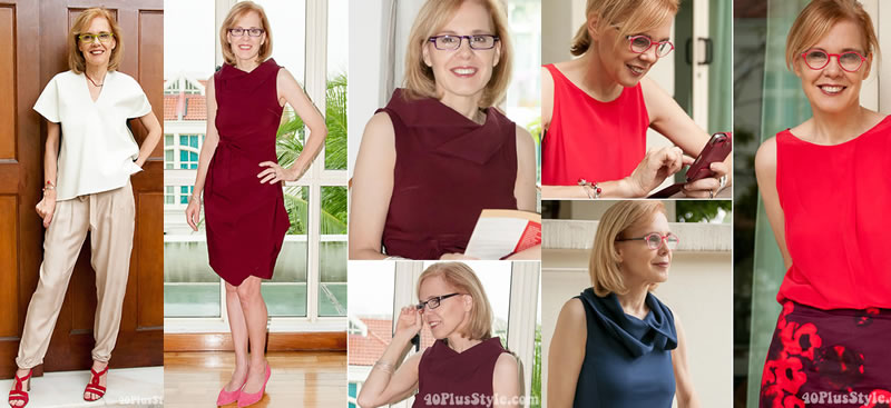 Sylvia wearing eye glasses | 40plusstyle.com